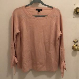 Pink Ribbed Ann Taylor Sweater